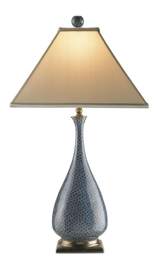Currey Hand Painted 1 Light Table Lamp With Tapered Square