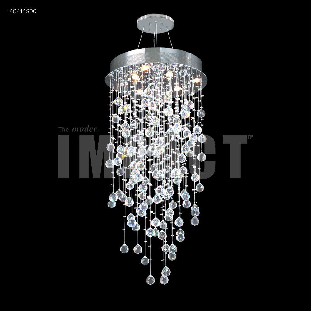 James R Moder Crystal Rain Chandelier Silver 40411s00 From