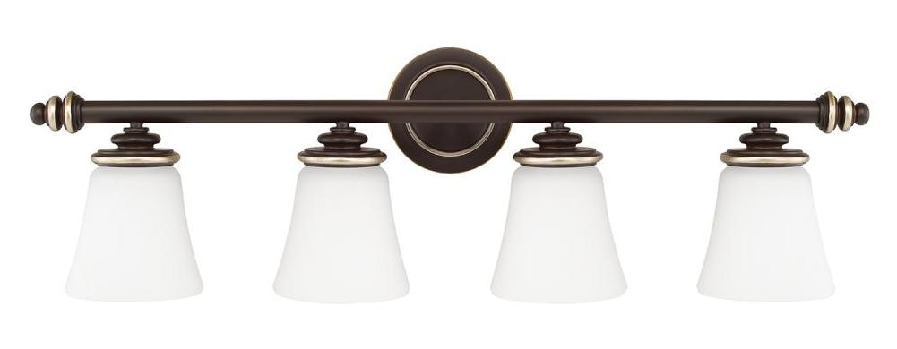 Capital champagne bronze asher 4 light bathroom vanity - Champagne bronze bathroom vanity light ...