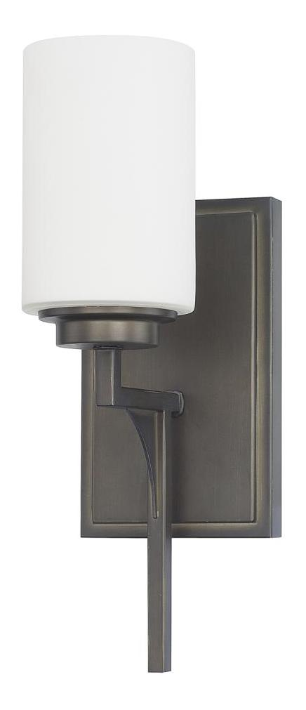 Capital Gunmetal Flynn 1 Light Bathroom Sconce Gunmetal 611011GM 316 From Fly
