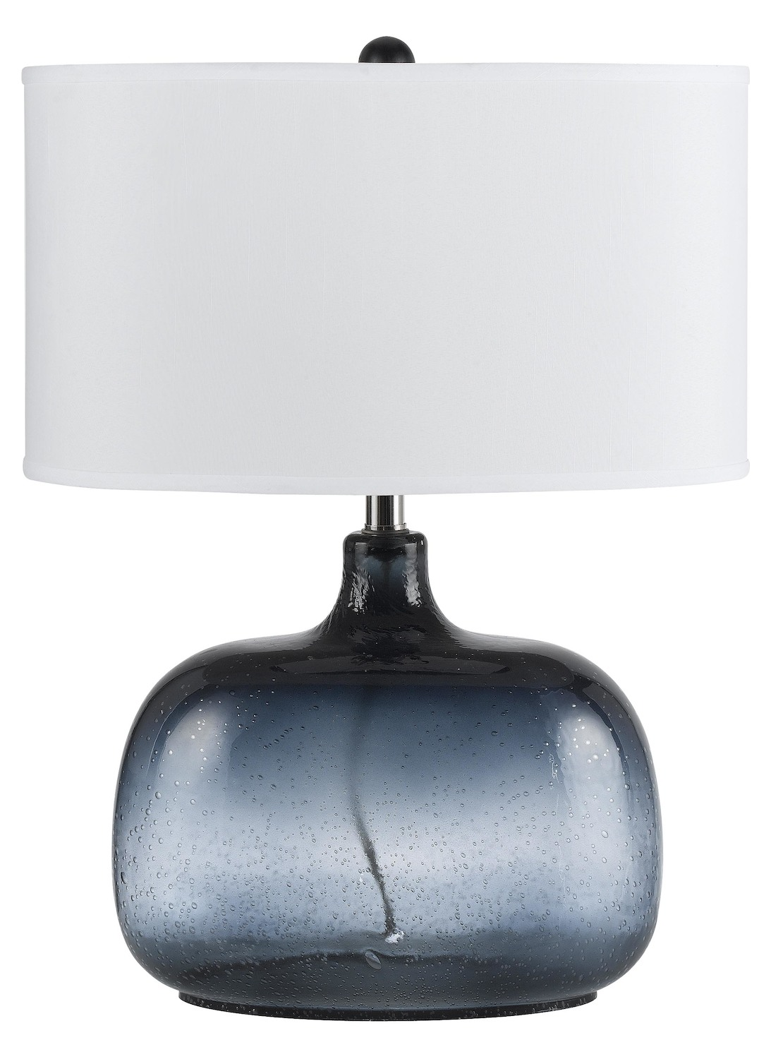 Cal Lighting Ocean Blue Christi 1 Light Glass Table Lamp With 3 Way Switch Lamps Homelamps