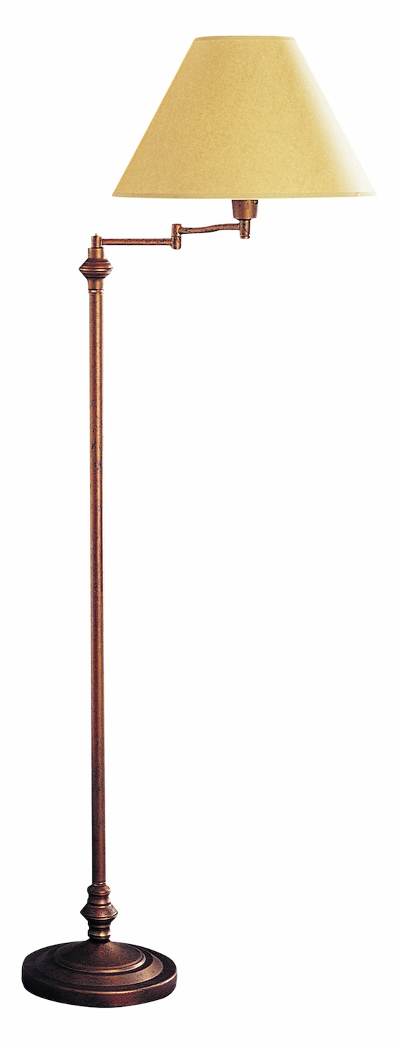 Cal Lighting 150w 3 Way Swing Arm Floor Lamp Rust Bo 314