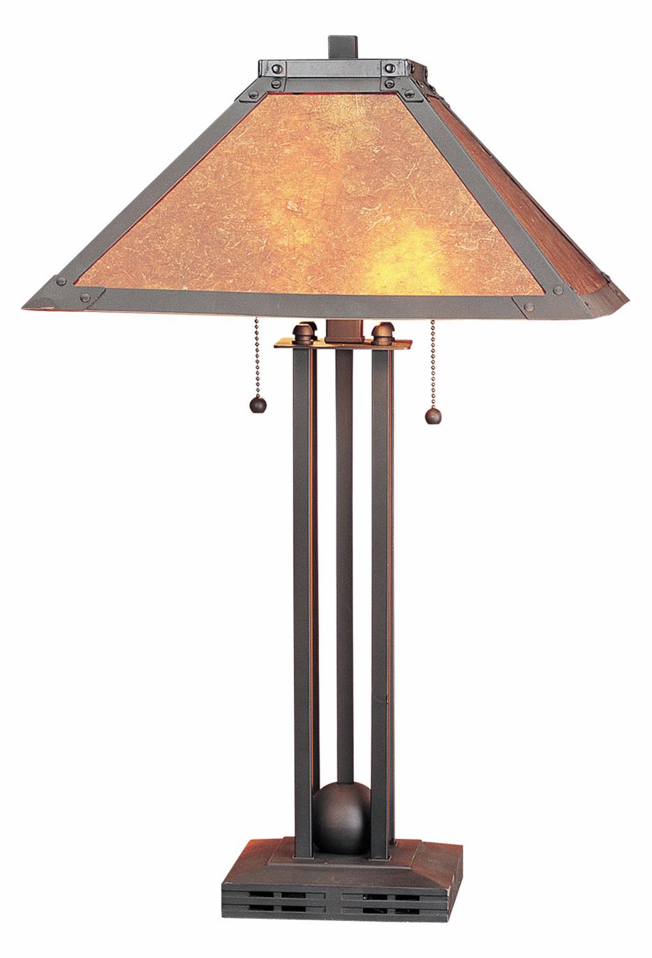 Cal lighting 60w x 2 table lamp w mica shade matt black bo for Cars 2 table lamp