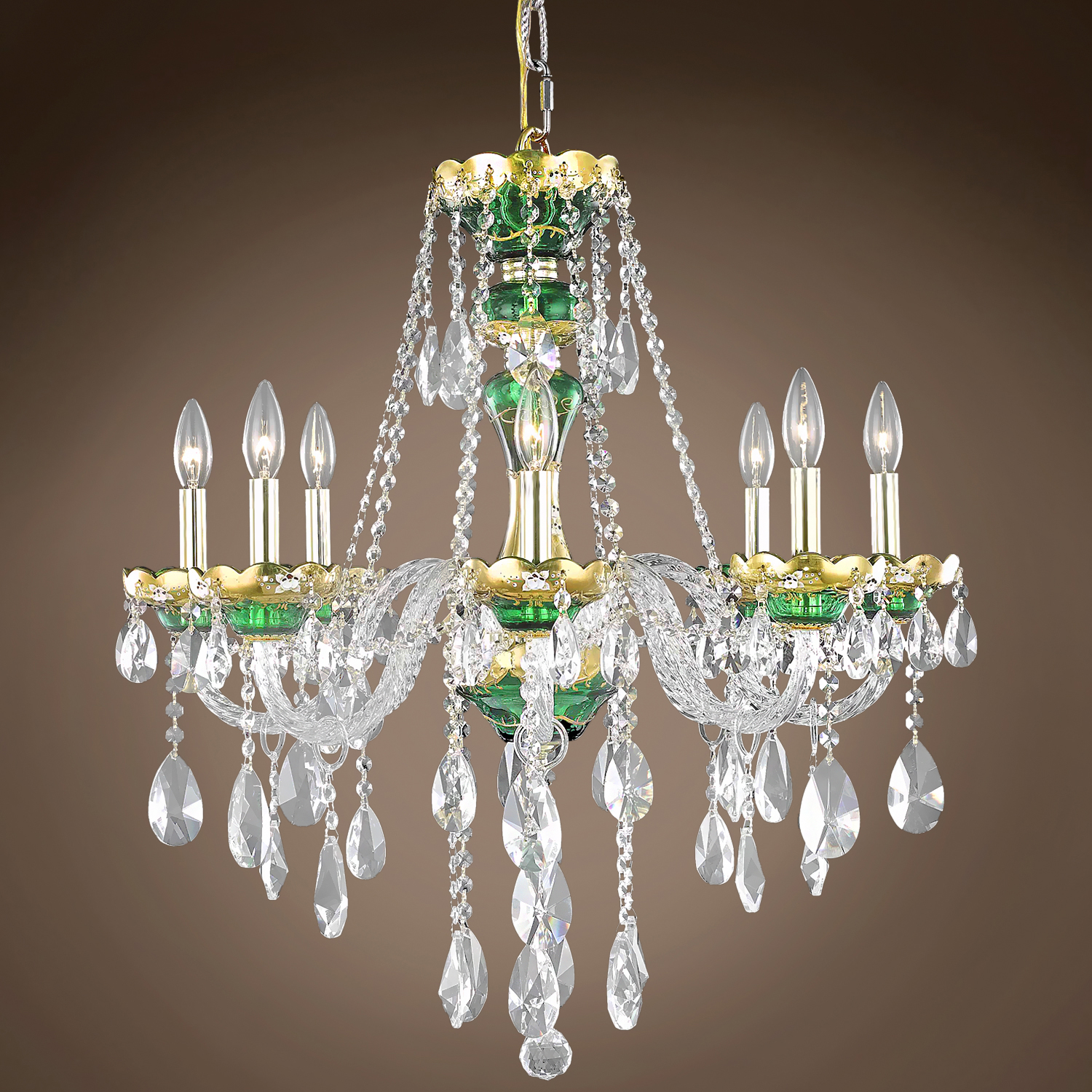 "Joshua Marshal Bohemian Design 8 Light 26"" Chandelier From"