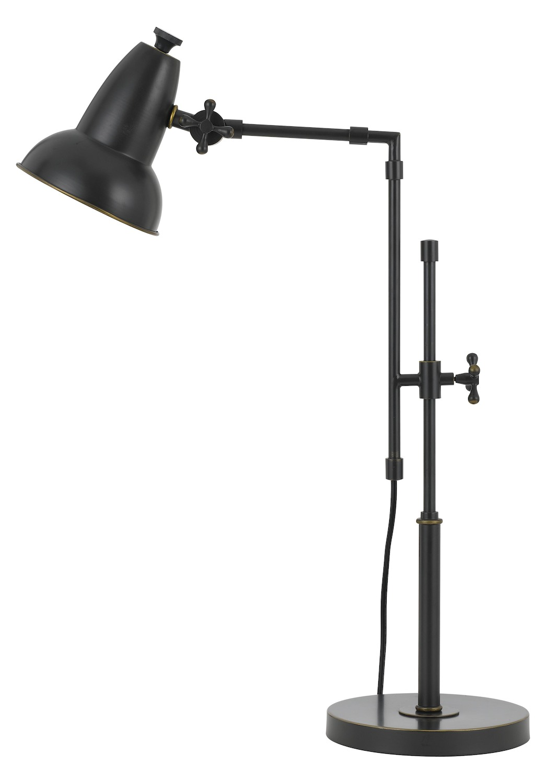 Cal Lighting 60w Hudson Metal Adjustable Desk Lamp With