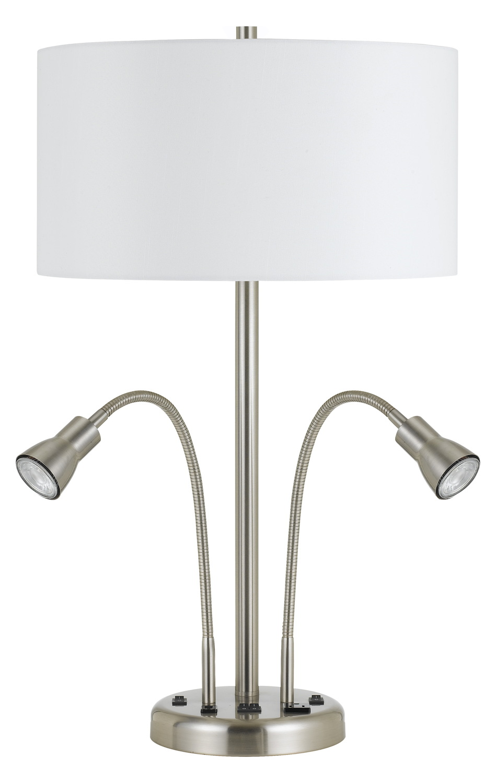 Cal Lighting 60w X 2 Metal Desk Lamp With Led 6w X 2 Gu10