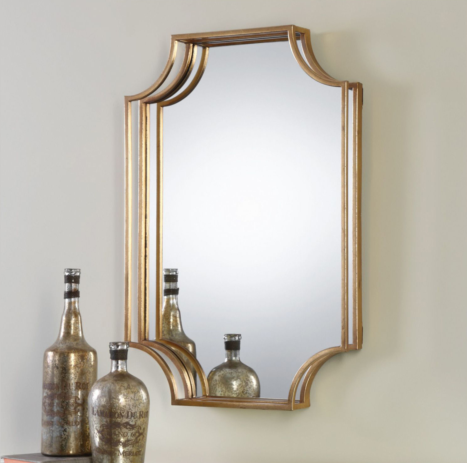 Vivian Wall Mirror By Uttermost: Uttermost Uttermost Lindee Gold Wall Mirror 09123 From