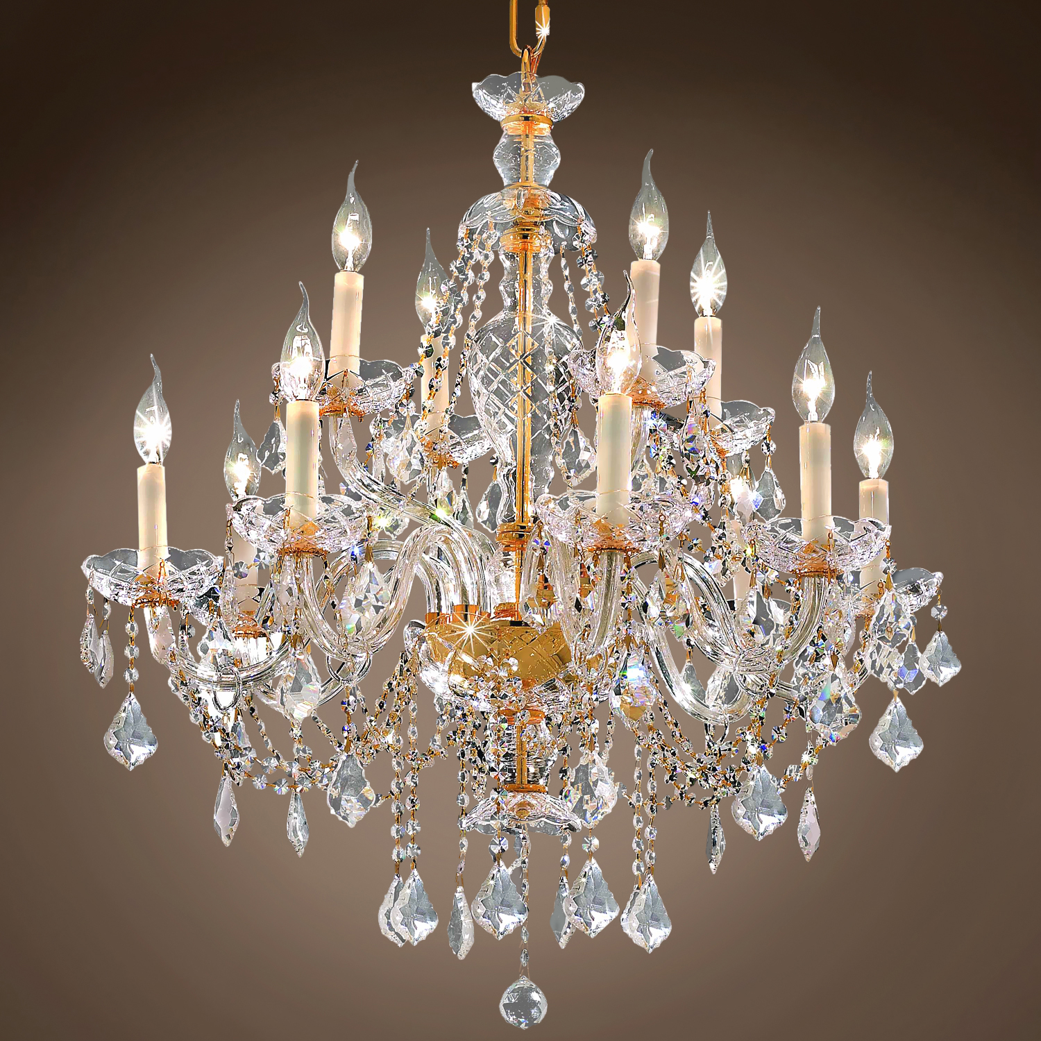 "Joshua Marshal Victorian Design 12 Light 28"" Chandelier"