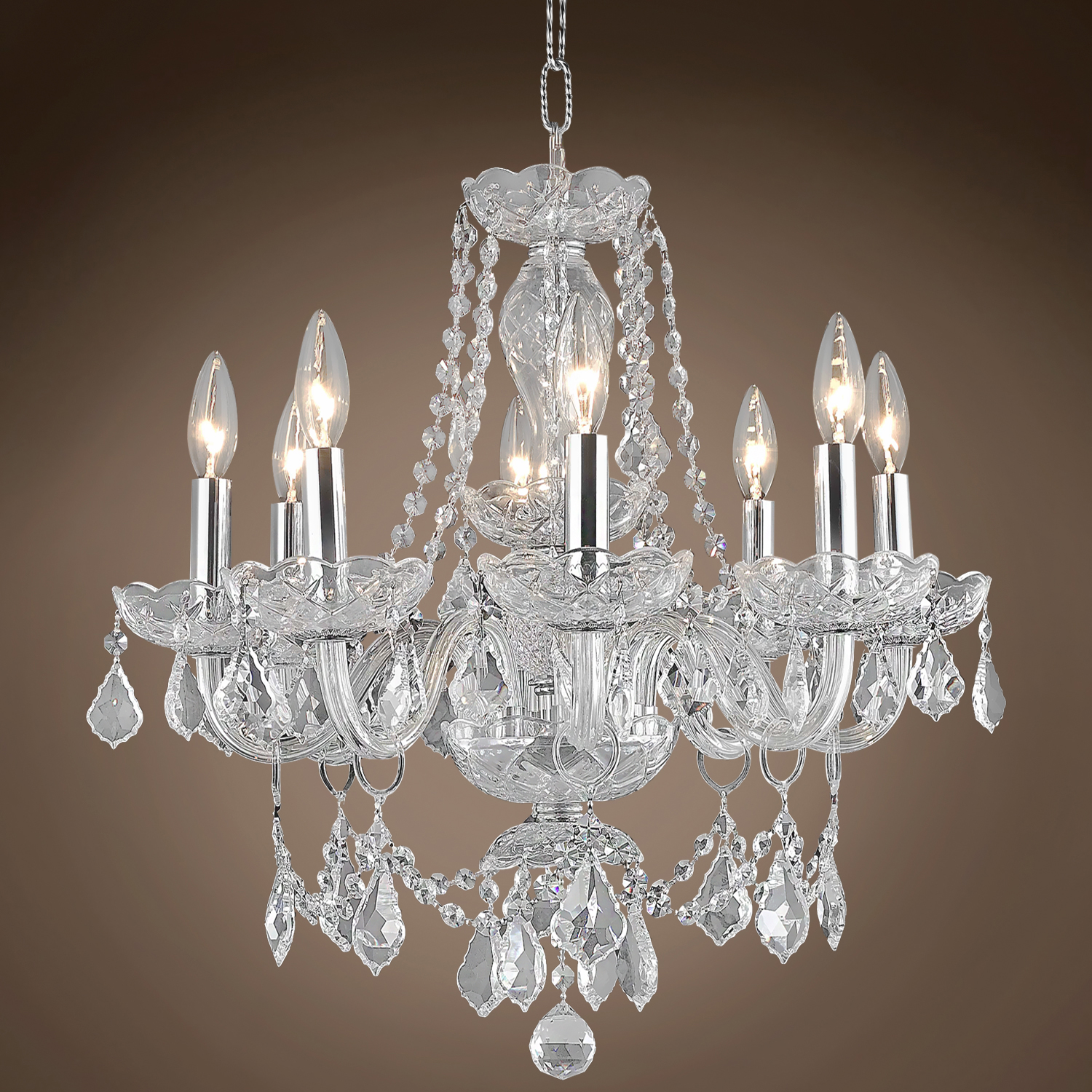 joshua marshal 701337 victorian design 8 light 20 chandelier from victorian collection. Black Bedroom Furniture Sets. Home Design Ideas