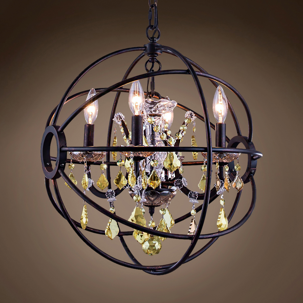 "Joshua Marshal Foucault'S Orb Design 4 Light 17"" Dark ..."