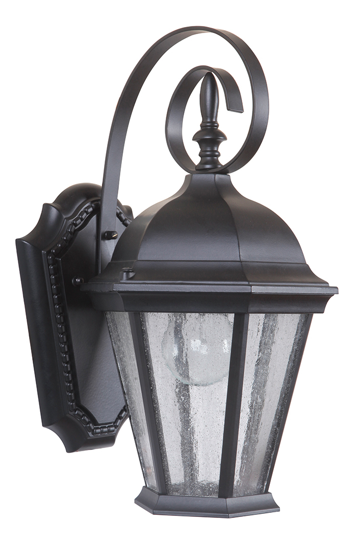 Craftmade 1 Light Small Wall Mount Black Z2904-11 From