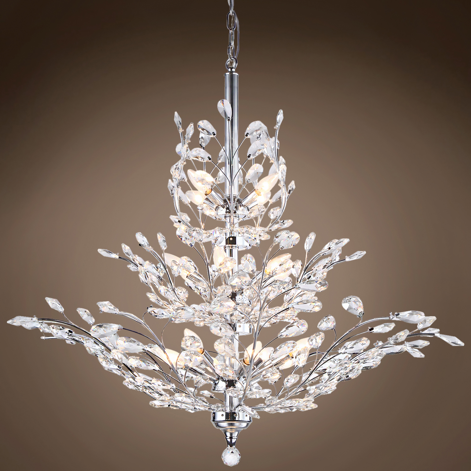 Joshua Marshal 700109 Branch Of Light 13 Light Chrome