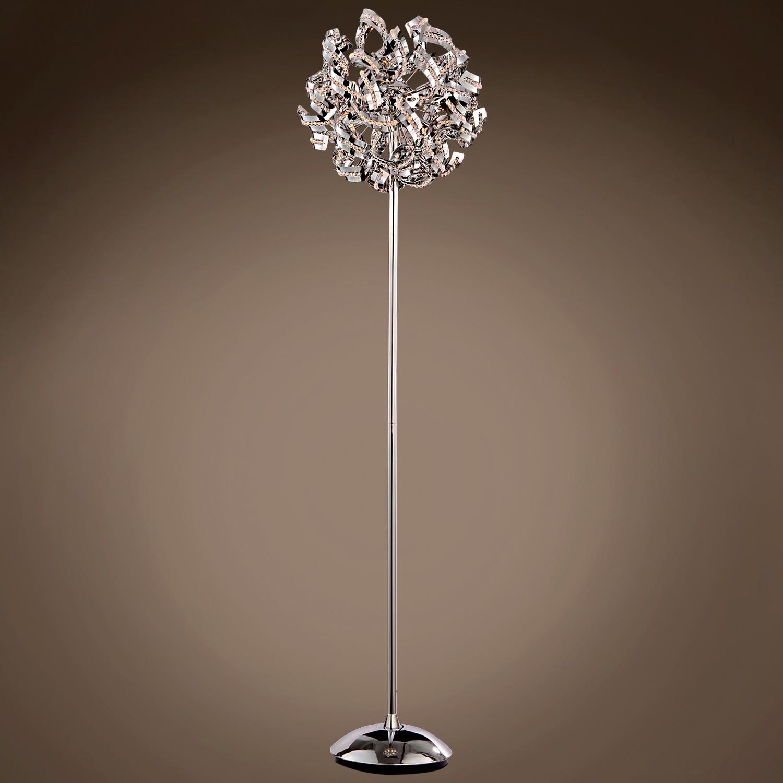 Joshua marshal 701307 001 ribbon 9 light 15 chrome floor for Beautiful floor lamps