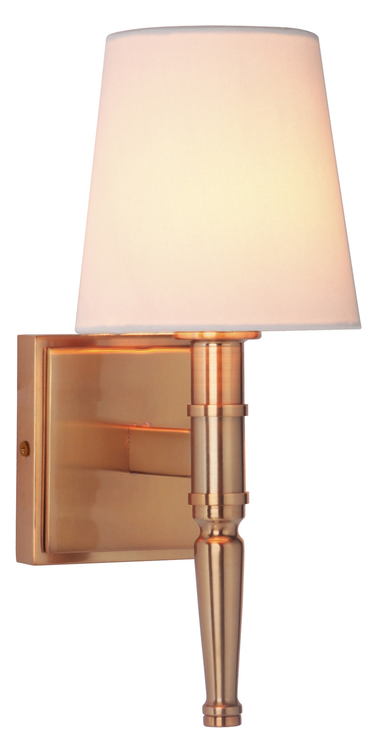 Satin Brass Wall Sconces : Craftmade 1 Light Satin Brass Vanity/Wall Sconce 44601-SB From Ella Collection