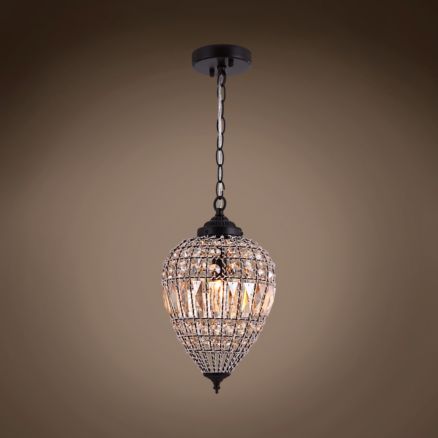 Joshua Marshal Limited Edition 1 Light 9 Quot Beaded Amber