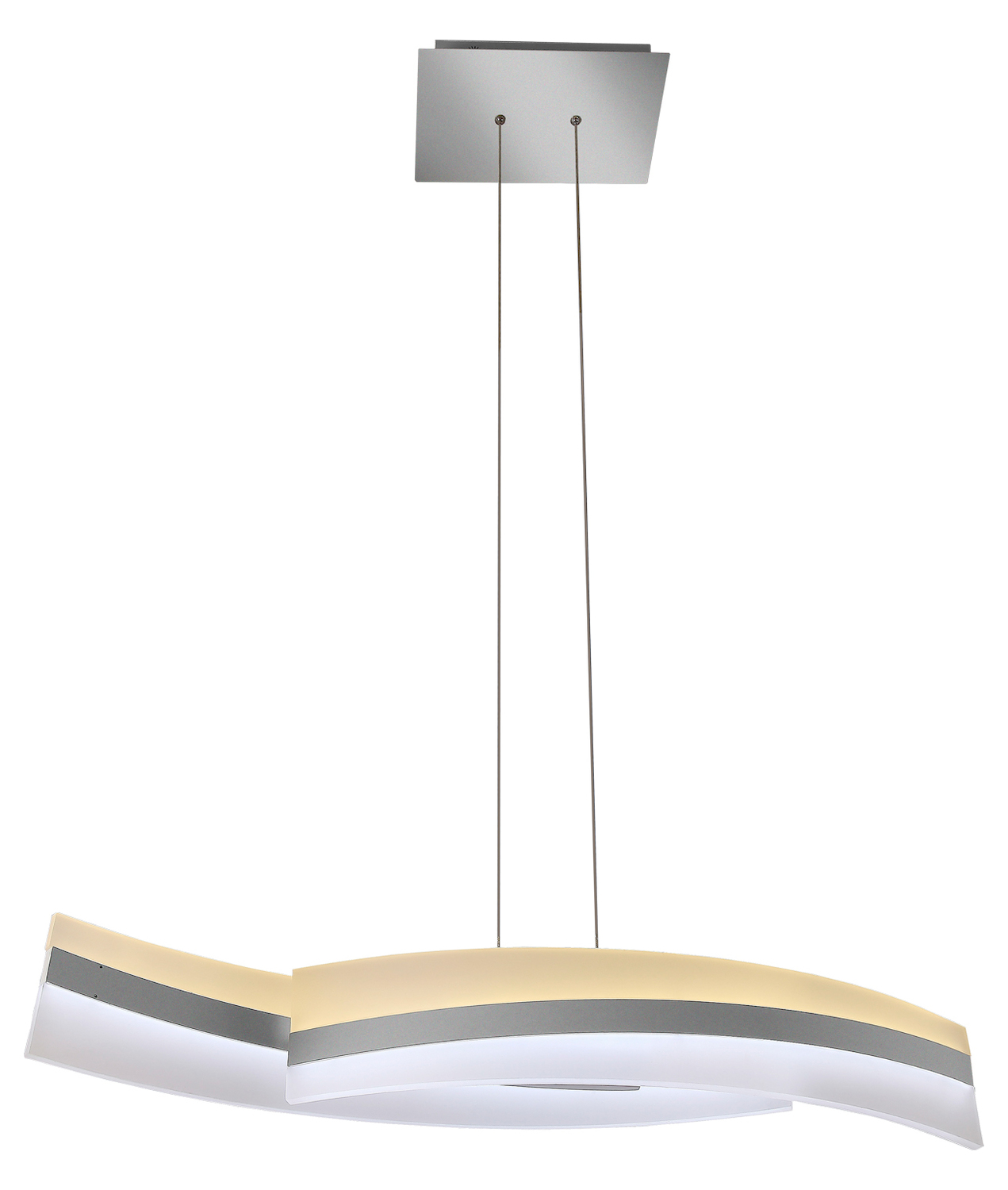 Vonn Lighting Metis Two Tier Wifi Enabled Tunable White Color Changing Led Linear Chandelier