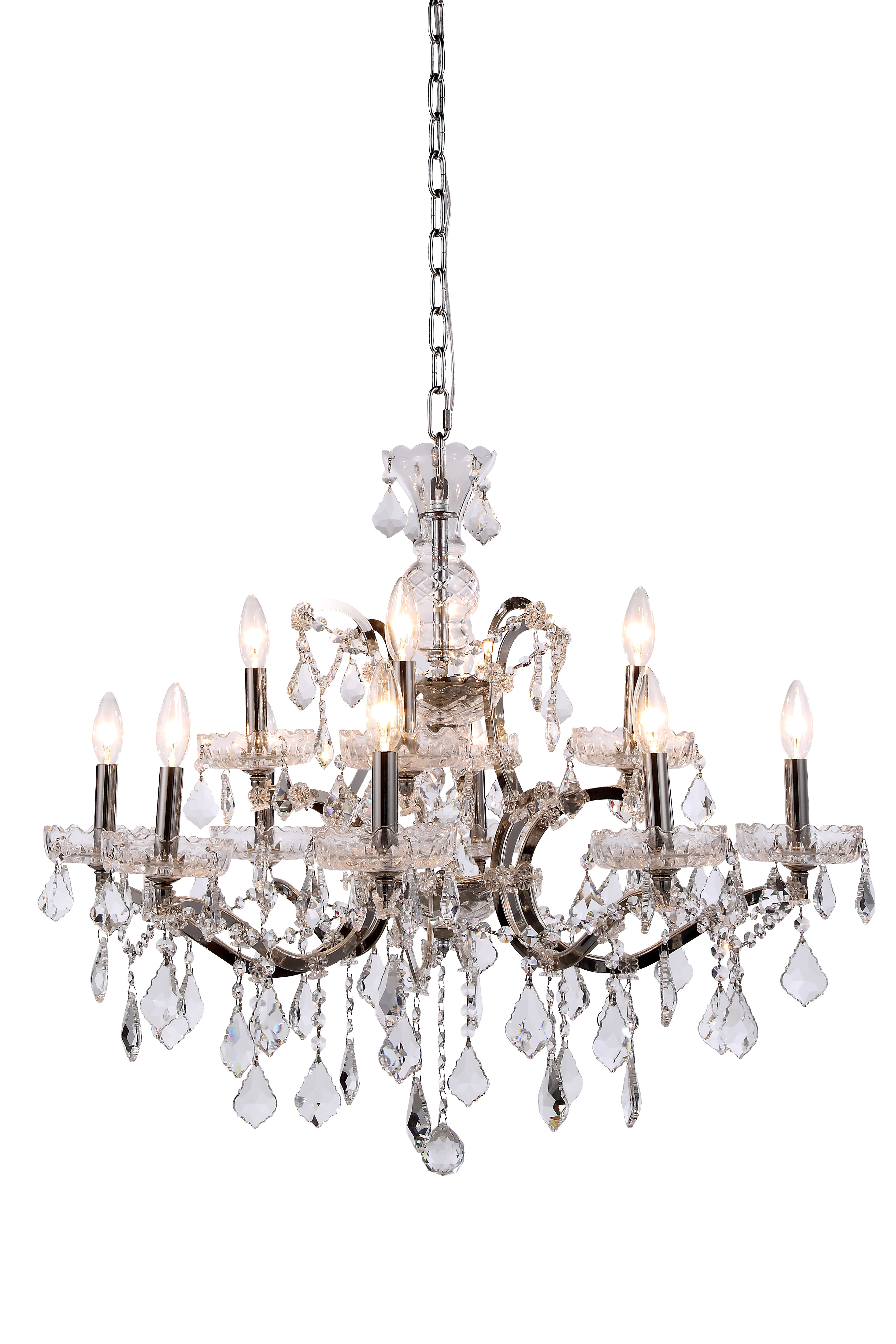 "Restoration Revolution 19th C ROCOCO 12 Light 26"" Crystal"