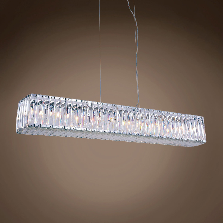 "Restoration Revolution Spiridon Linear 11 Light 8"" Chrome Crystal"