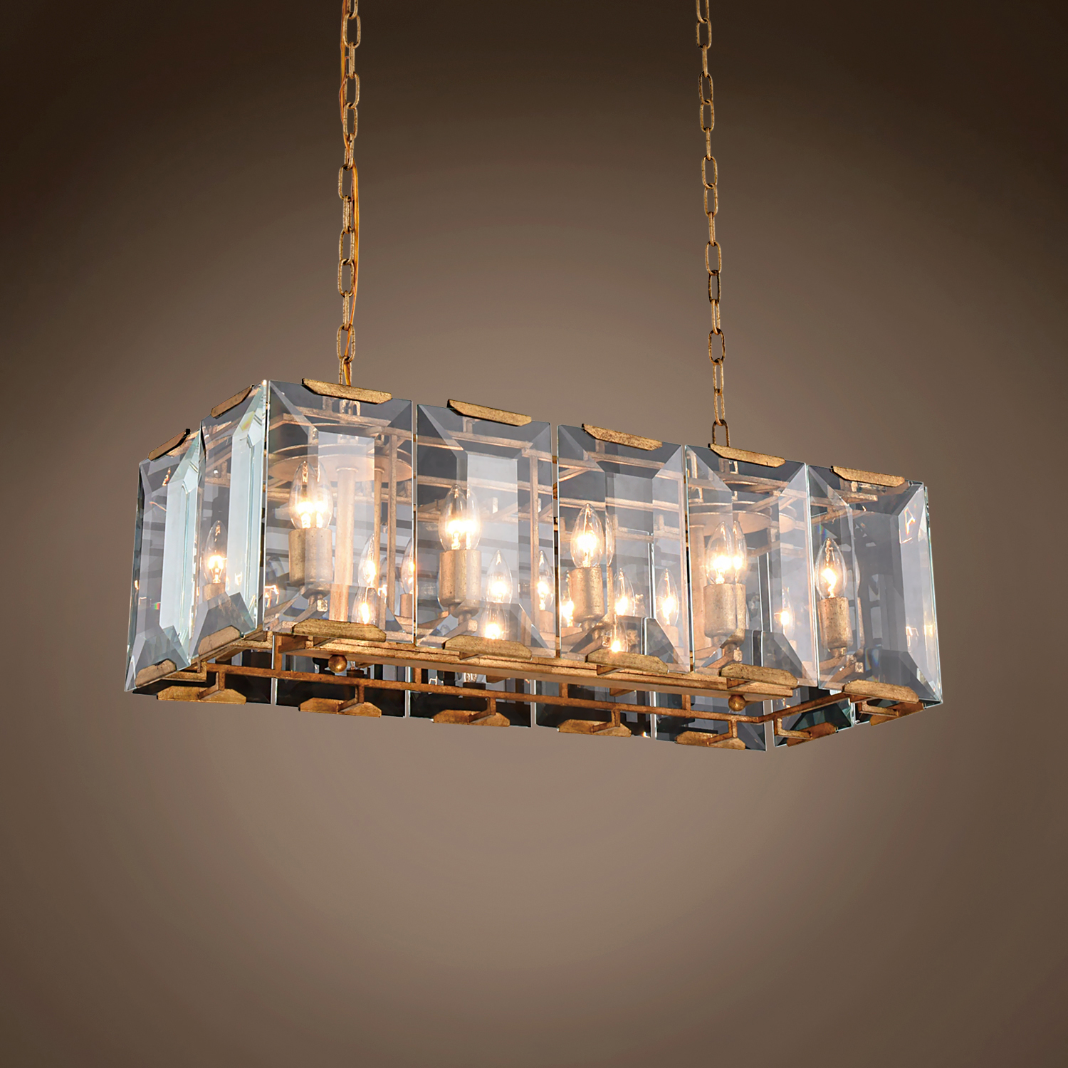 Restoration revolution harlow crystal rectangular 10 light 34 quick view arubaitofo Choice Image