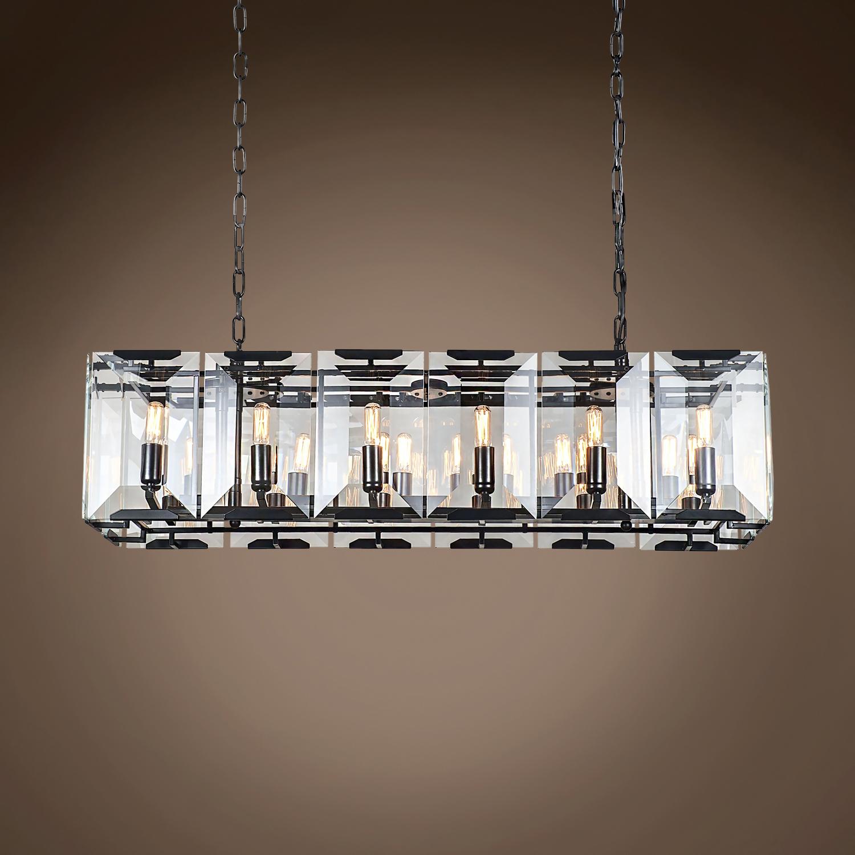 Restoration Revolution Harlow Crystal Rectangular 12 Light 40 ...