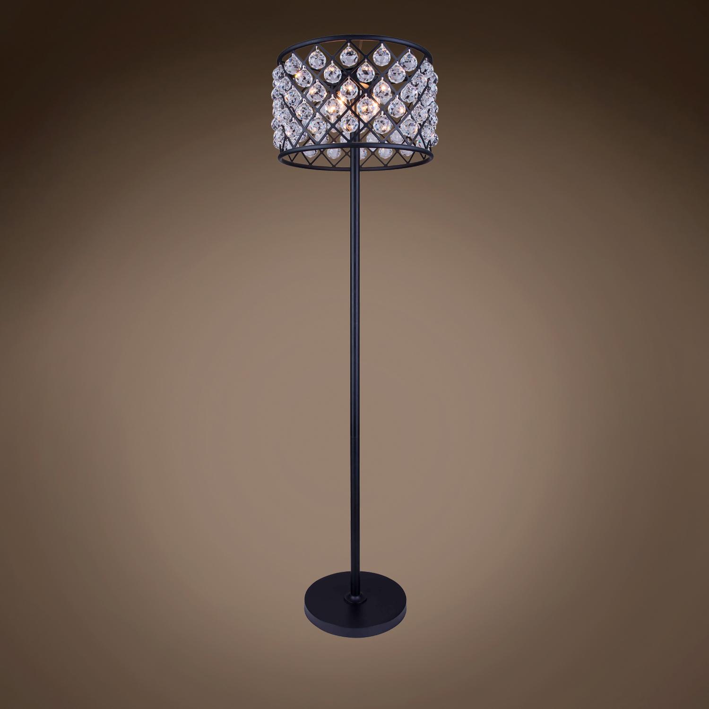 Home Brands Gatsby Luminaires Crystal Grid 4 Light 20 Floor Lamp