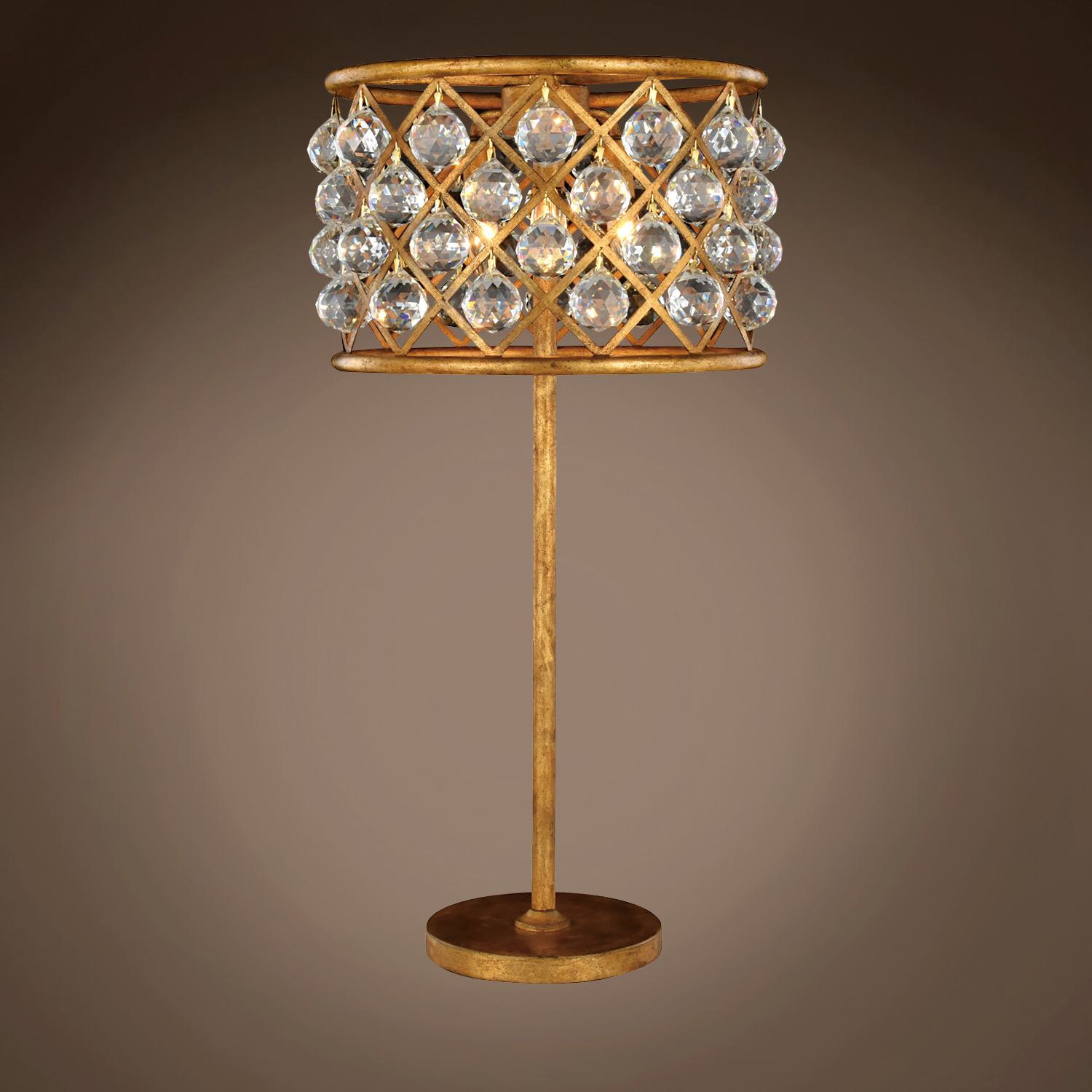 Restoration Revolution Spencer 3 Light 15 5 Crystal Table Lamp