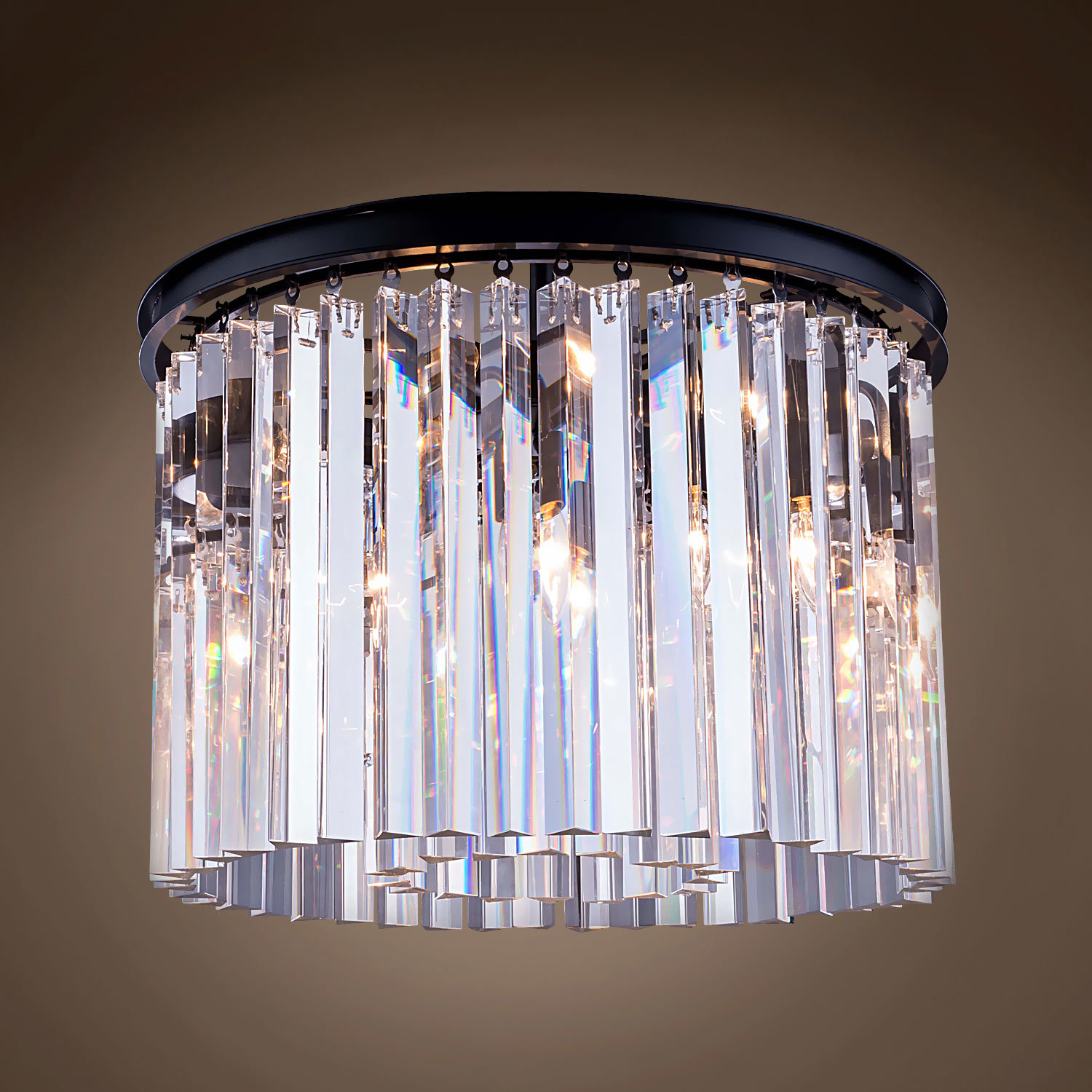 fixture ceiling light prism stunning product crystal chandelier three tier round