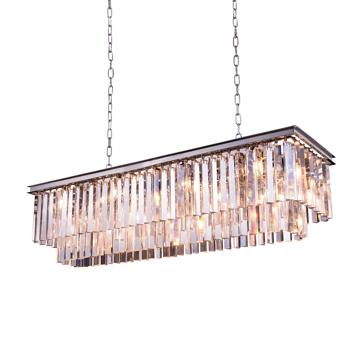 Restoration revolution odeon 12 light 50 glass fringe rectangular odeon 12 light 50 glass fringe rectangular chandelier arubaitofo Choice Image