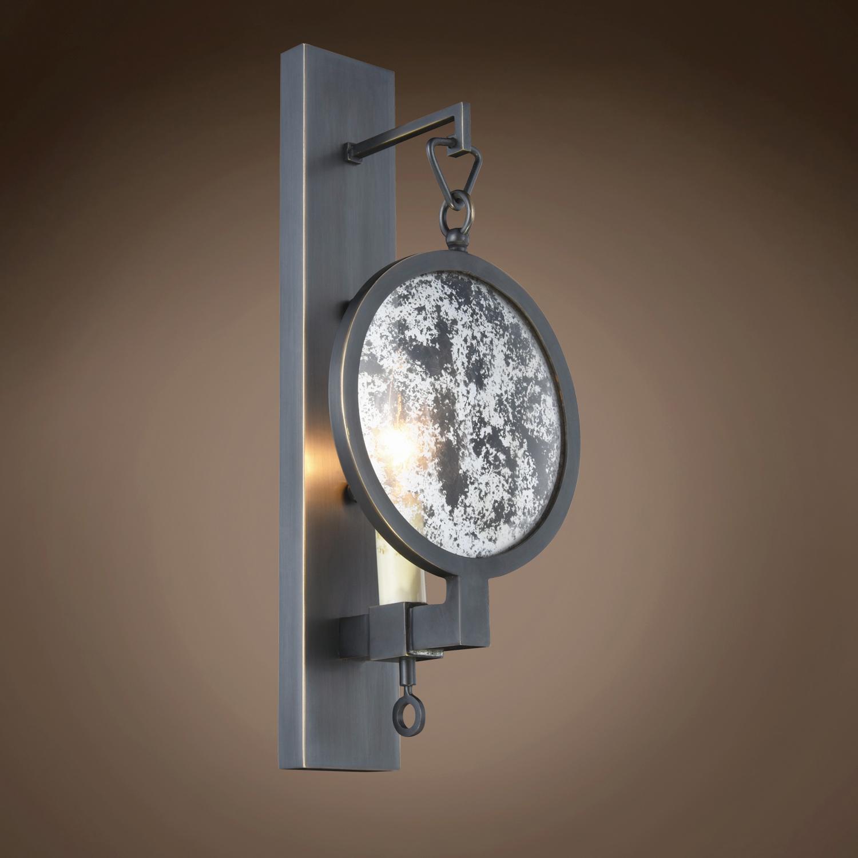 Restoration Revolution Gaslight Lens 1 Light 6 Bronze Wall Sconce