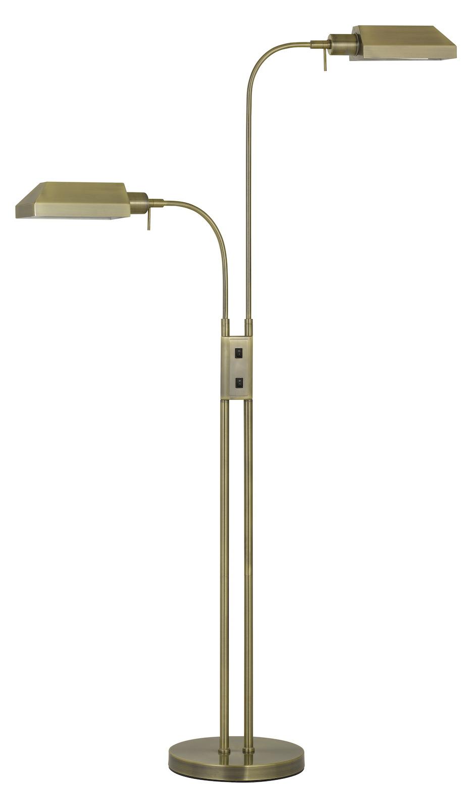Cal Lighting 60w X 2 Pharmacy Dual Height Floor Lamp With