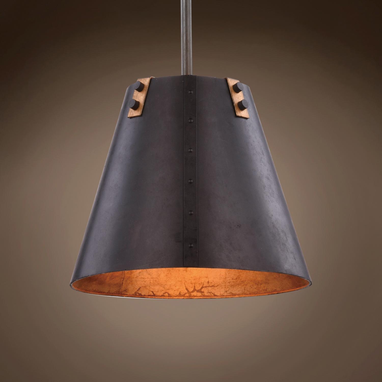 quality design c62c4 2522b Antiqued Metal Cone 1 Light 12