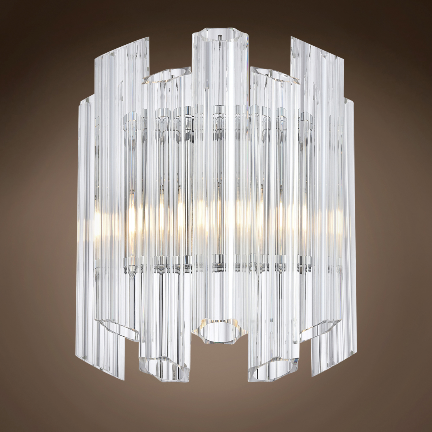 Gatsby Luminaires German Glass Tube 1 Light 7 Chrome Wall Sconce 702068 From German Glass Tube Collection