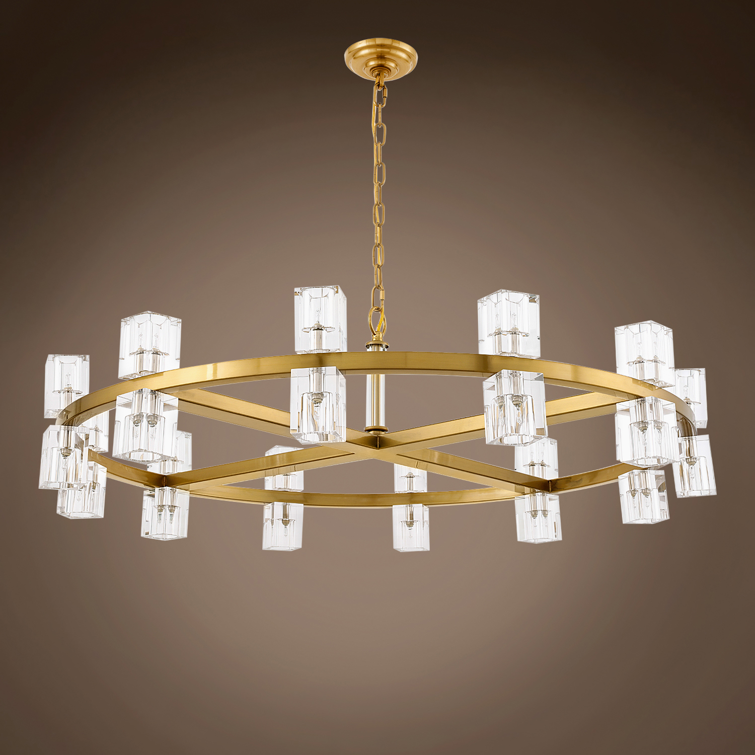 Gatsby Luminaires Crystal Wagon Wheel 20 Light 42 Round Chandelier 702162 From Crystal Wagon Wheel Collection