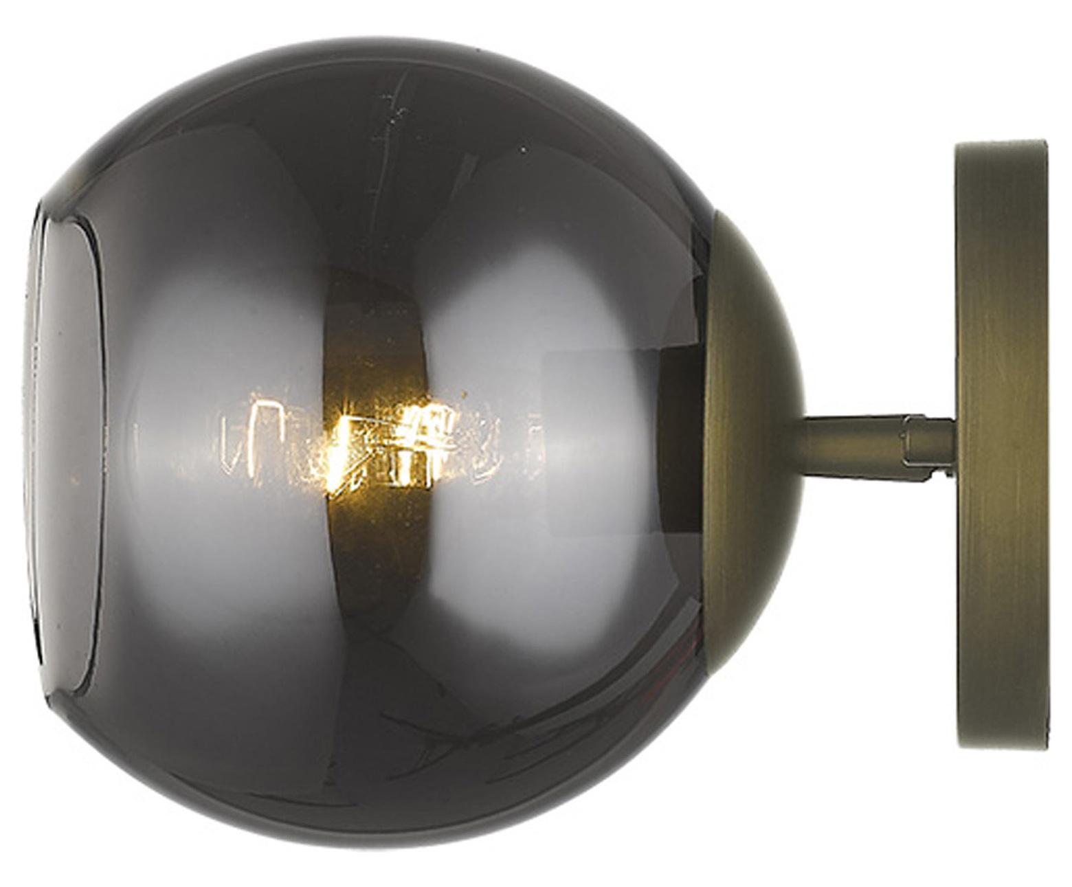 Lunette 1 Light Aged Br Sconce
