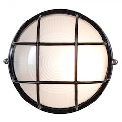 Access Black / Frosted Single Light Outdoor Wall Sconce From The Nauticus Collection