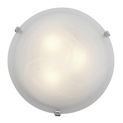 Access Alabaster Mona 3 Light Flush Mount Ceiling Fixture