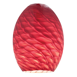 Access Amber Fire Bird Firebird Ostrich Glass Shade