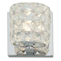 Access Chrome / Clear Crystal Prizm 1 Light Bathroom Sconce