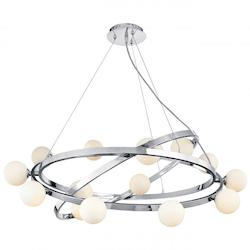 Access Chrome / Opal Nitrogen Collection Cable Articulating Chandelier - Bulbs Included