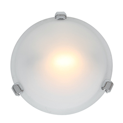 Access Chrome / Frosted Nimbus 1 Light Flush Mount Ceiling Fixture