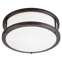 Access Bronze / Opal Conga 1 Light Flush Mount Ceiling Fixture