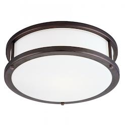 Access Bronze / Opal Conga 2 Light Flush Mount Ceiling Fixture