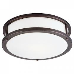 Access Bronze / Opal Conga 3 Light Flush Mount Ceiling Fixture