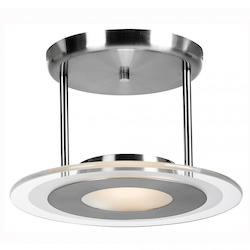Access Brushed Steel Helius 1 Light Semi-Flush Ceiling Fixture