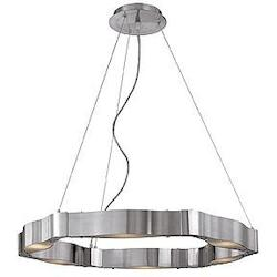 Access Brushed Steel / Frosted Titanium Collection 6 Light Chandelier