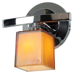 Access Chrome / Amber Sydney 1 Light Wall Sconce