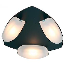 Access Frosted Nido 3 Light Flush Mount Ceiling Fixture