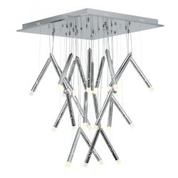 Access Chrome / Acrylic Rain 26 Light Multi Light Pendant