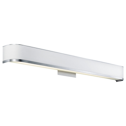 Kichler Brushed Aluminum 3.82In. Wide Single-Bulb Bathroom Lighting Fixture