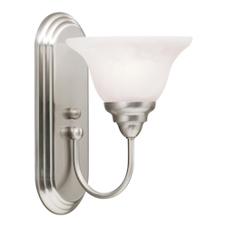 Kichler Brushed Nickel 1 Light Fluorescent Wall Sconce From The Telford Collection